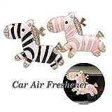 Binoster Cute Zebra Lufterfrischer Auto Parfüm Air Vent Clip Dekorationen Süße Best Home Dekoration Auto-Dekoration Verschiedene Anlässe