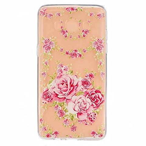 MOTOUREN Housse Pour Samsung Galaxy J5(2016 Version) Ultra-minces TPU Silicone Shell Cas Coque Étui Case Cover - pink Rose