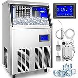 HODOY Macchina Per Il Ghiaccio Commerciale 220V Fabbricatore Di Ghiaccio Nuovo Modello con Controllo LCD automatica (50KG)