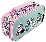 FRINGOO® Astuccio per bambini bambine con due compartimenti per la scuola Borsellino con maniglia Dream Team - 2 Compartments
