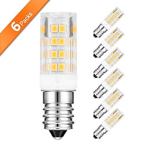 ARVIDSSON E14 LED Bulb Equivalent Warm White Small Edison Screw Appliance Light Bulb, LED SES E14 Bulbs, 360Lm Non-Dimmable Clear Lens 360 Beam Angle, 3000K Romantic Glow, 4.5W LED x 6-Pack