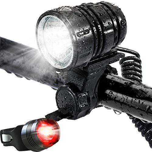 LED-Front Taschenlampe Wasserdichtes Hell 1200 Lumen, 4 Modi