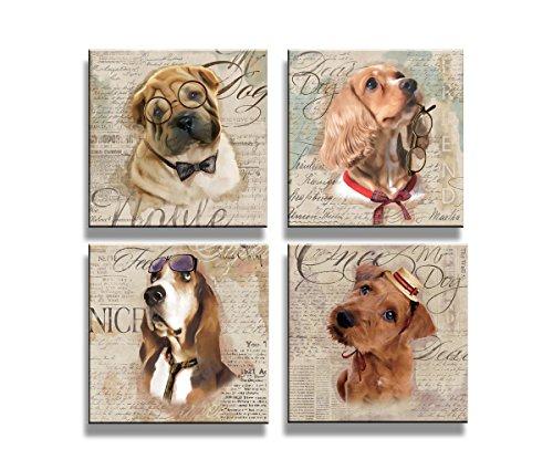 Visario Cuadros en Lienzo 4x20 x 20 cm Nr. 6905 los perros...