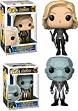 Funko POP! Avengers Infinity War: Black Widow + Ebony Maw – Marvel Stylized Vinyl Bobble-Head Figure Bundle Set NEW