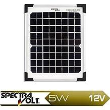 Panel Solar fotovoltaico monocristalino para Camping Caravanning 5 Watt Oramics