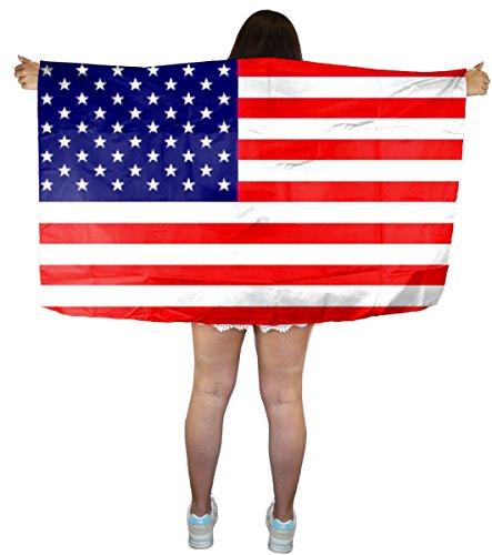 Sonia Originelli Fan Poncho Umhang Flagge Fußball WM Länder Cape Farbe USA - Usa Cape