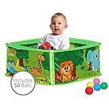 Bentley Kids - Pop-Up-Bällebad mit Bällen für Babys - Für Drinnen - Tiermotiv