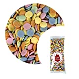 Cake Décor Edible Rainbow Confetti Sugar Cake Sprinkles | 85g Bag | Vegan Cake Decorating