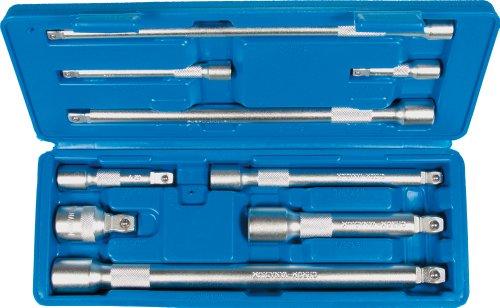 "Kipp-Verlängerungen, 1/4"" + 3/8"" + 1/2""-Antrieb, 9-tlg. Länge 50-225 mm CV-Stahl (Chrom-Vanadium-Stahl) (A2309)"