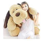 MISJIA Perro Suave Juguete Peluche Grande Peluche Perro Dormir Almohada muñeca muñeca Regalo de cumpleaños para niñas,130cm