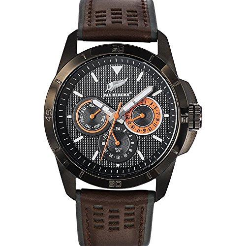 all-blacks-680274-montre-homme-quartz-analogique-cadran-noir-bracelet-cuir-bicolore