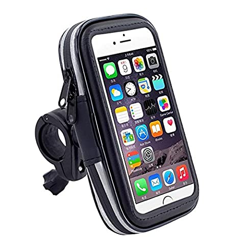 IKuaFly Quick Release Bike Phone Holder Pouch Waterproof Touch Screen Available Shock Absorber Slide Mount Bicycle Moto Iphone Plus Bag