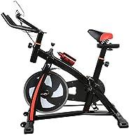 outad S300 Spinning Bikes Fitness Bicicleta cartk Nights doméstica bicicleta estática Fitness – Bicicleta elíptica con respaldo Monitor LCD Sport ...