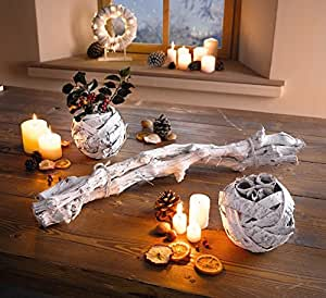 rebenholz weiss dekoobjekt rebholz echtholz weinrebe deko tischdeko dekoration k che. Black Bedroom Furniture Sets. Home Design Ideas