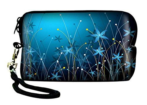 LUXBURG® Universal Kameratasche - Blaue Blumen