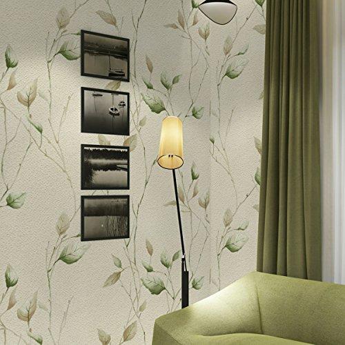 3D Tapete modernen minimalistischen pastoralen Wind Blatt Samt Vliestapete dreidimensionale Relief Wand Kaufen Sie drei Get One Free ( Color : White )