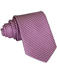 Tangda - Cravate Rayée Slim - HOMME - Fine Soie - 145cm Soirée Businesse Mariage Cérémonie