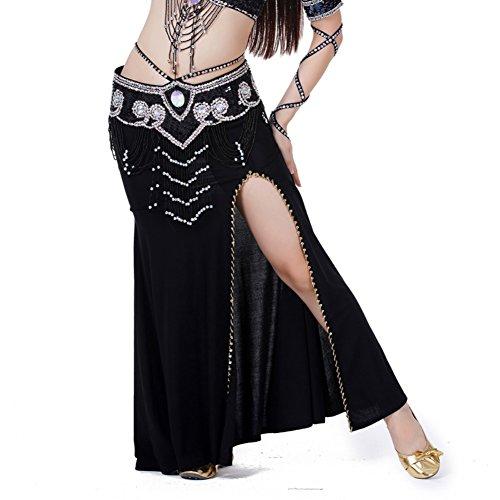 Brightup Bauchtanz Kostüm mit Schlitzrock Kleid 7 Farben für wählen
