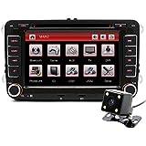 Junsun Reproductor de DVD CD GPS Navegación Bluetooth Pantalla Táctil Radio 2 Din Estéreo para VW/Volkswagen/Passat/GOLF/Skoda/Seat 7 Pulgada Regalo Gratis Camara Visión Trasera