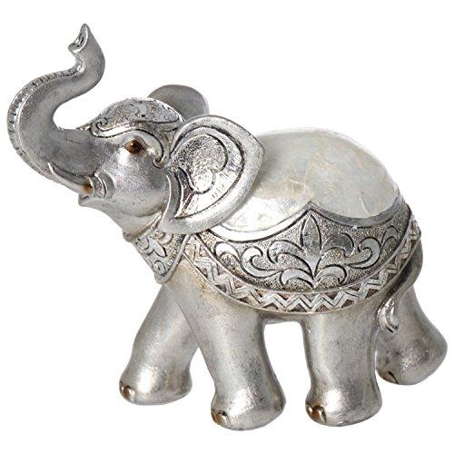 DonRegaloWeb - Figura de un Elefante de Resina con trompa levantada en...