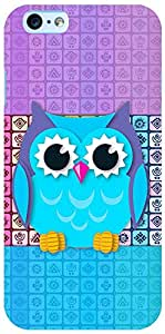 PrintVisa 3D-IPHONE6S-D7781 Girly Pattern Owl Case Cover for Apple iPhone 6S