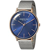 Kenneth Cole Mens Quartz Watch, Analog Display and Stainless Steel Strap KC15183003