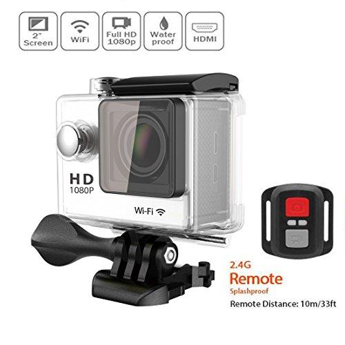 Lyhoon 1080p macchina fotografica impermeabile di sport con 12mp wifi e controllo 2