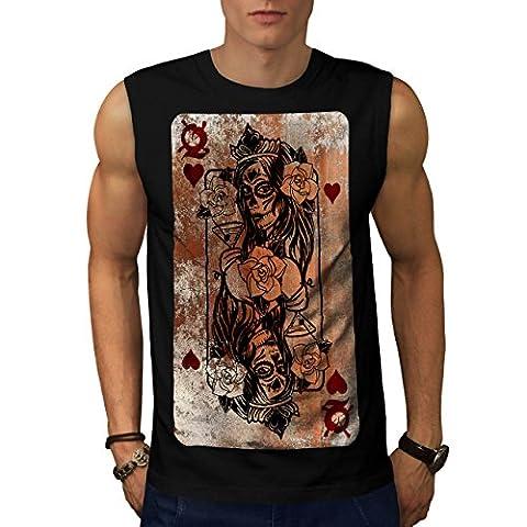 Gothic Heart Queen Poker Lady Men NEW Black M Sleeveless