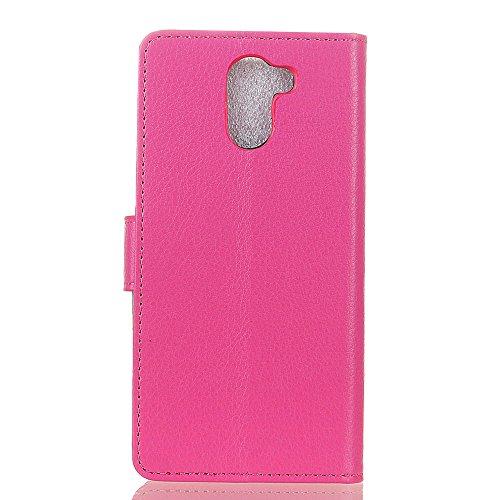 Klassische Litchi Textur PU Leder Schutzhülle Horizontale Folio Flip Stand Case Cover mit Kartensteckplätzen für Wileyfox Swift 2 ( Color : Brown ) Rose