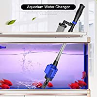 Eccomum Aquarium Gravel Cleaner Efficient Electric Automatic Vacuum Water Changer Flexible Fish Tank Sand Algae Cleaner Water Filter Pump Syphon Cleaning Tool