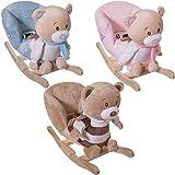 Stimo24 Schaukeltier BÄREN Schaukelbär Schaukelpferd Baby Kind Schaukel Babyschaukel PETI / PETRILLA / BUBU mit Sicherheitsgurt und Kippschutz (Bubu)