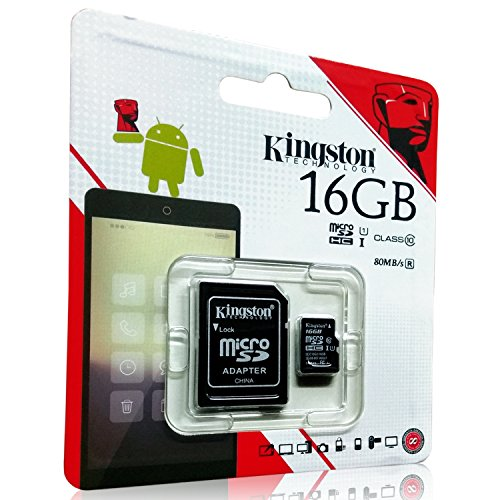 Kingston 16GB Class 10 Memory Card with Adapter (High Speed OF 80 Mb/s)