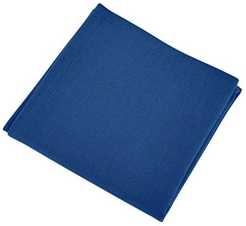 VENT DU SUD Lot 12 Serviettes de Table Yuco Indigo Coton, 45 x 45 cm
