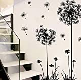 Tefamore Creative Dandelion Flower Removable Home Wall Decal