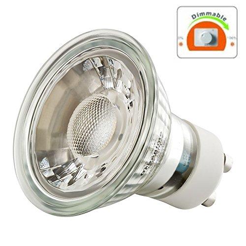 LED GU10 3W -- DIMMBAR -- Spot Strahler Glasgehäuse 230V warmweiß