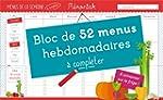 Bloc de menus � compl�ter M�moniak 2017