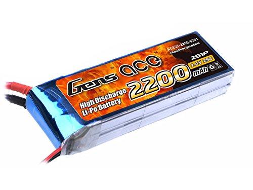 gens-ace-batteria-lipo-2200mah-74v-25c-2s-per-elicottero-aereo-fpv-quadcopter-drone-nero-ricambi-rc-