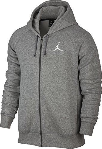 Nike Flight Fleece Fz, Basketball Sweatshirt Herren S Dk Grey Heather/Bianco
