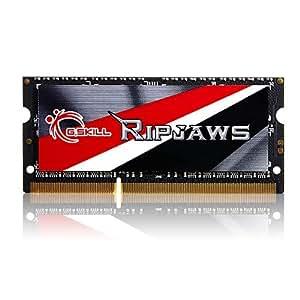 G.SKILL Ripjaws Series 8GB 204-Pin DDR3 SO-DIMM DDR3L 1600 (PC3L 12800) Laptop Memory Model F3-1600C9S-8GRSL