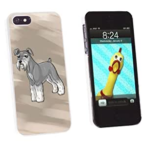 Graphics and More Miniature Schnauzer - Pet Dog Snap-On Hard Protective Case for Apple iPhone 5/5s - Non-Retail Packaging - White