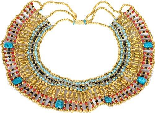 Königin Kleopatra Ägypten goldfarben Halskette Bauchtanz Kostüm ()