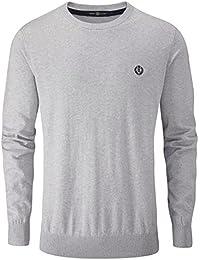 Henri Lloyd Men's Miller Crew Knitted Sweatshirt, Grey