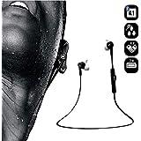 Bluedio M2Casque stéréo Bluetooth écouteurs intra-auriculaires sans fil Sport Course à Pied pour Smartphone–Blanc