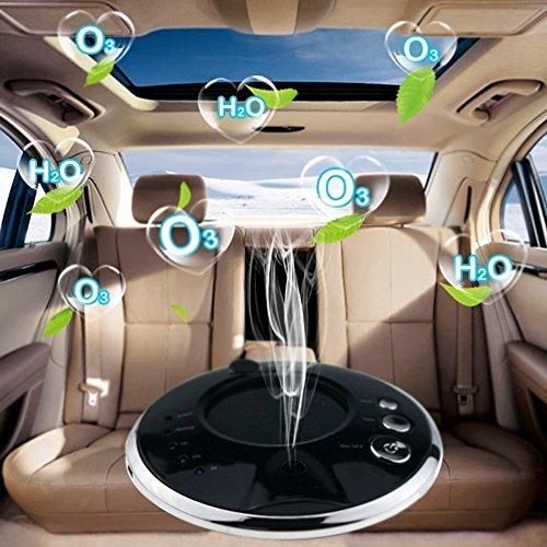 Preisvergleich Produktbild Auto Luftreiniger, Banaroo Solar Anion Luftbefeuchter, Portable Ionic Lufterfrischer Ionisator Sauerstoff Bar, Neben Formaldehyd PM2.5, USB Auto Luftbefeuchter. (Black)