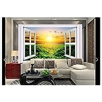 Malilove 3D Fototapete Custom 3D Wandbild Tapeten Wald Sonnenschein Draußen  Vor Dem Fenster, 3D