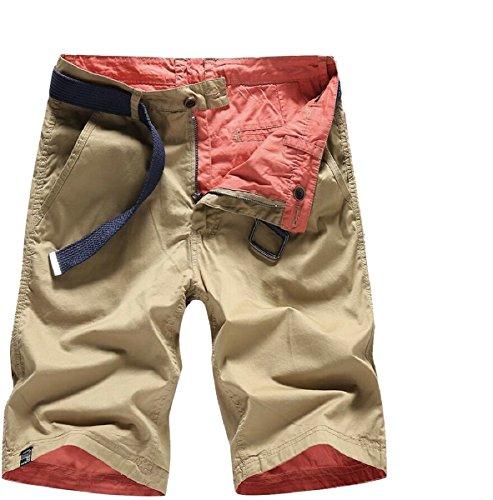 Gocgt Men's Double-Side Wear Multi-Pocket Army Cargo Short