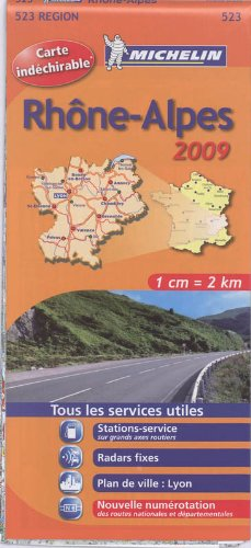 RHONE - ALPES 17523 CARTE MICHELIN KAART 2009 (KAARTEN/CARTES MICHELIN) par Michelin