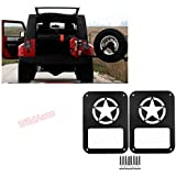 Wildauto – Jeep Wrangler arrière Coque – pour 2007–2017 Jeep Wrangler JK Unlimited – Queue Shield Protector – World War II Support Lampshade- Paire