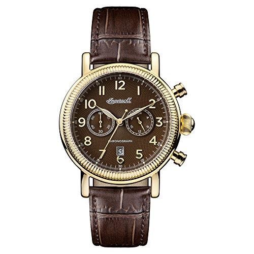 Ingersoll Herren Analog Quarz Uhr mit Leder Armband I01003