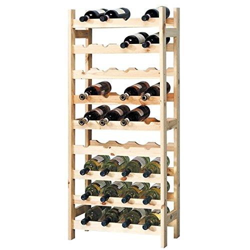 Wein Server Home Bar (Kesper 9Fach Wein Flasche, System aufzustellen, 51x 27x 120cm, beige)